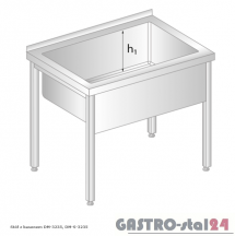 Stół z basenem DM 3235 szerokość: 600 mm, głębokość: 300 mm (800x600x850)