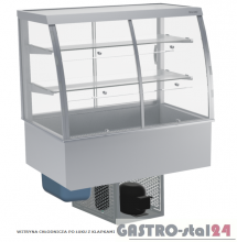 Witryna chłodnicza po łuku z klapkami DM-94950.4K wym. 1420x614x1429mm