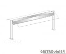 Nadstawka centralna z grzaniem i oświetleniem DM-94581 G-E wym. 1234x575x470