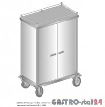 Wózek do transportu tac termoizolacyjnych (drzwi zawiasowe otwierane) do transportu zewnętrznego DM 3431 1080x630x1673 Z - 20 tac