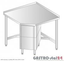 Stół narożny z szafką DM 3110 szerokość: 700 mm (600x700x850)