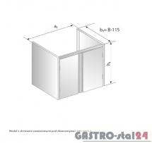 Moduł z drzwiami zawiasowymi pod zlewozmywak DM 3210.1 szerokość: 585 mm  (800x585x650)