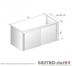 Moduł z drzwiami suwanymi pod zlewozmywak DM 3211.1 wym. 800x485x650