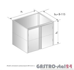 Moduł z drzwiami zawiasowymi DM 3117.1 szerokość: 585 mm   (800x585x650)