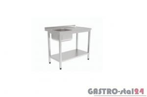 Stół ze zlewem i półką GT 3201 1000x600x850mm