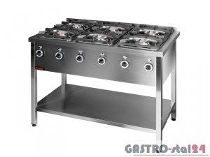 Kuchnia gazowa  6-palnikowa 000.KG-6M