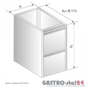 Moduł z szufladami DM 3109.1  szerokość: 485 mm  (400x485x650)