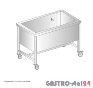 Stół jezdny z basenem DM 3240 szerokość: 600 mm, głębokość: 400 mm (800x600x850)