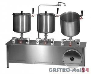 Zestaw kociołków przechylnych parowy (pojemność: 3x30l) ZP-6