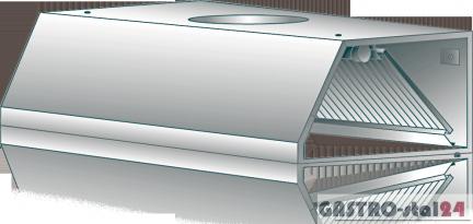 Tylko na zewnątrz Okap wyciągowy przyścienny DM-S 3601 1000x700x400 - Okapy UL71