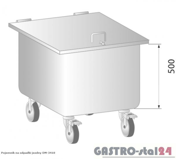 Pojemnik na odpadki jezdny DM 3410 400x400x650