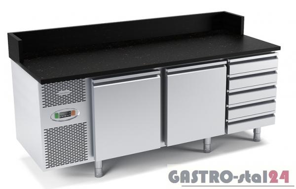 Stół chłodniczy do przygotowywania pizzy z płytą granitową płaską DM 94049 1975x800x840/1000