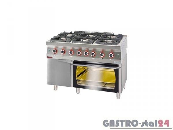 Kuchnia gazowa z piekarnikiem elektrycznym 700.KG-6/PE-2/SD 1200x700x900