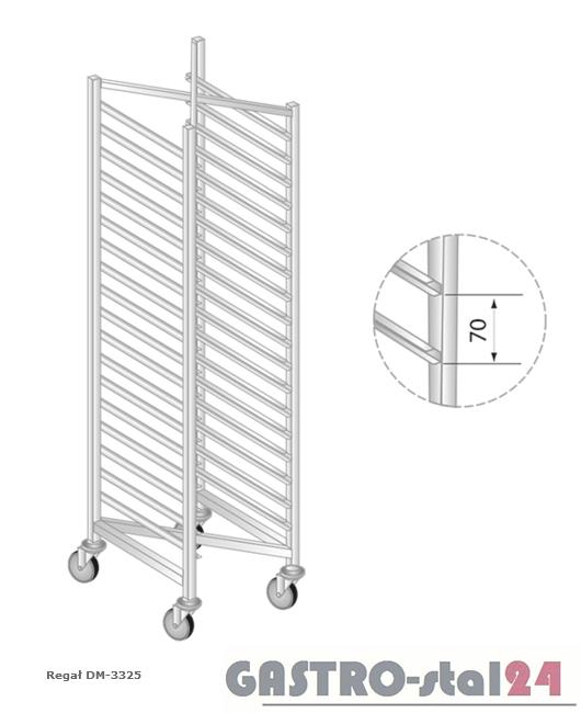 Regał DM 3325 szerokość: 660 mm, wysokość: 1600 mm  (600x660x1600)