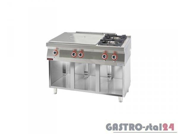 Kuchnia gazowa z płytą grzewczą 700.KG-2/I-800.S, 1200x700x900