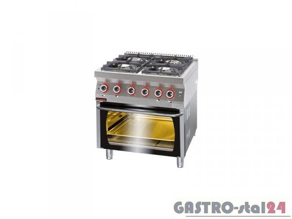 Kuchnia gazowa z piekarnikiem el. 700.KG-4/PE-2 800x700x900