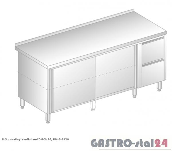 Stół z szafką i szufladami DM 3126 szerokość: 600 mm (1400x600x850)