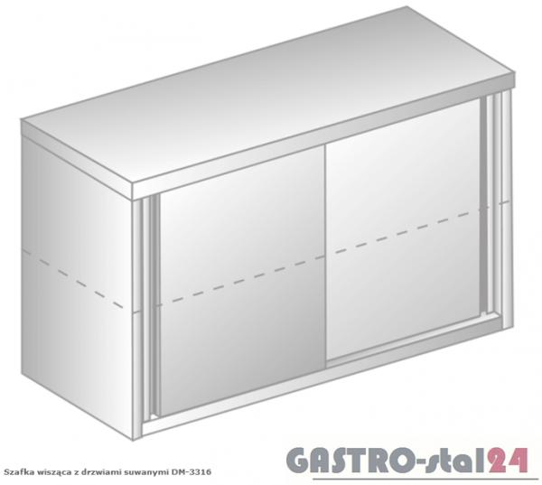 Szafka wisząca z drzwiami suwanymi przelotowa DM 3316 P  szerokość: 400 mm, wysokość: 600 mm  (800x400x600)