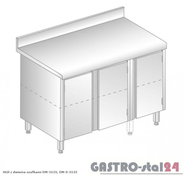 Stół z dwiema szafkami DM 3125 szerokość: 700 mm (1200x700x850)