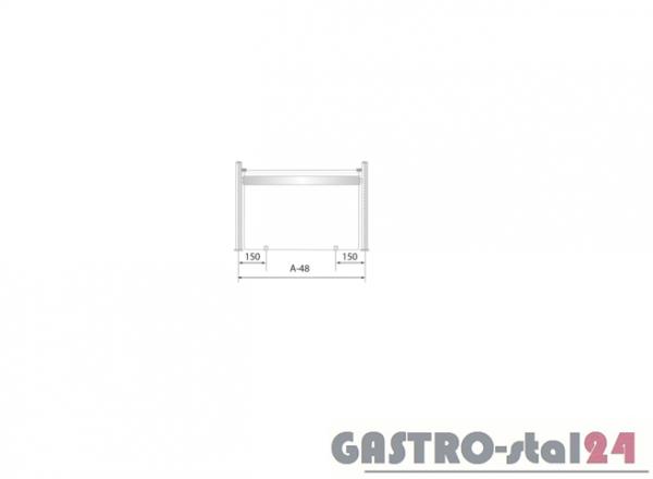 Nadstawka z grzaniem i oświetleniem DM 94582 G 1543x480x480