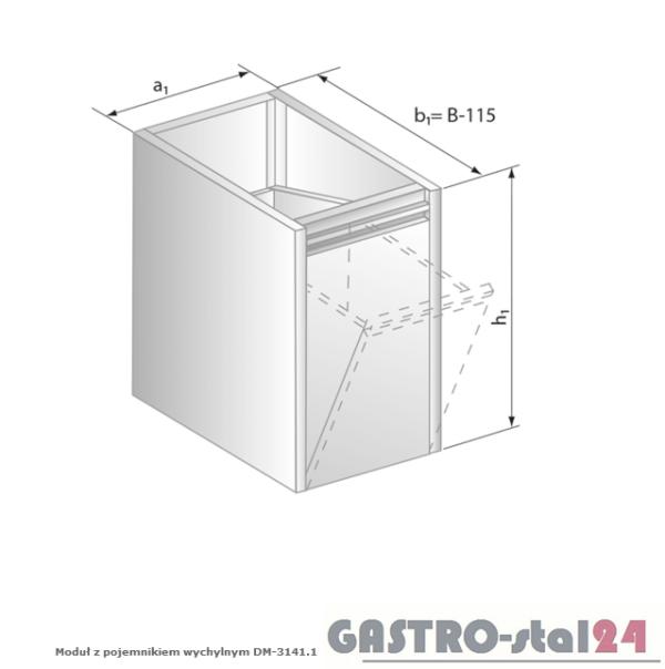 Moduł z pojemnikiem wychylnym DM 3141.1 szerokość: 485 mm  (400x485x650)