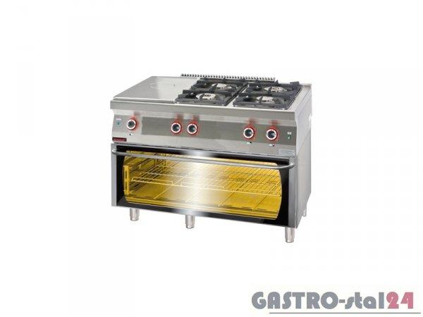 Kuchnia gazowa z płytą grzewczą z piekarnikiem elektrycznym moduł 3xGN1/1 700.KG-4/I-400/PE-3