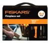 Zestaw kominkowy campingowy Fiskars 1025441 Siekiera X5 + nóż + ostrzałka