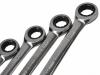 Zestaw 12 kluczy płasko-oczkowych z podwójną grzechotką SATA 09066