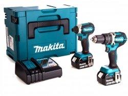 Zestaw Makita DLX2127 TJ 2x5.0Ah 18V wkrętarka DDF482 wkrętak udarowy DTD152
