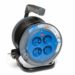 Przedłużacz bębnowy domowy KEL PB-HOME/20M/3X1/H03VV-F 20m W-97623