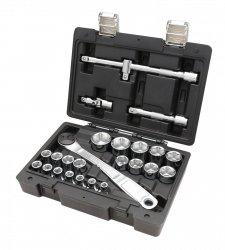 Zestaw nasadek sześciokątnych  z gniazdem 1/2 BETA EASY z akcesoriami, 25 szt. kat. 923E/C25