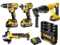 4 narzędziowy zestaw Combo Dewalt 18V 3x 5.0Ah