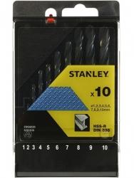Zestaw 10 wierteł do metalu Stanley STA56030