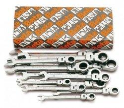 Komplet 13 kluczy płasko-oczkowych z dwukierunkowym mechanizmem zapadkowym z przegubem Beta 142SN/S13