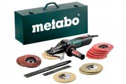 Metabo Elektroniczna szlifierka kątowa z płaską głowicą WEVF 10-125 Quick Inox, 1000 W zestaw