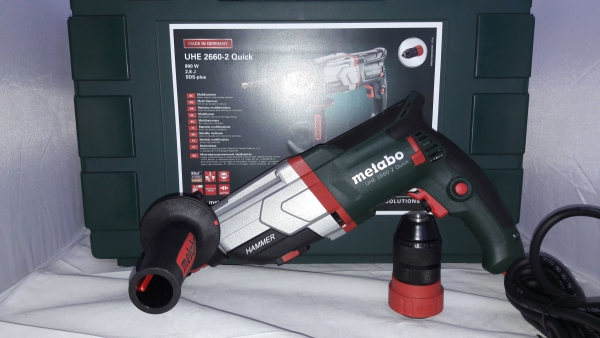 Młotowiertarka Metabo UHE 2660 Quick 800W + adapter