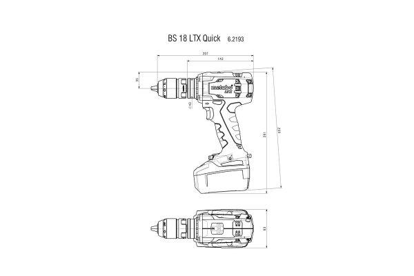 Wiertarko-wkrętarka Metabo BS 18 LTX Quick 18V 2X5.2AH LI-ION 602193650