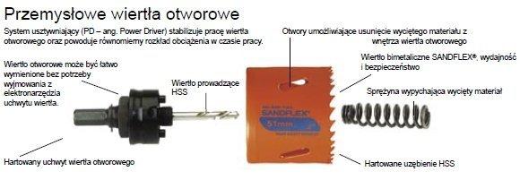 Bahco piła otworowa bimetaliczna SANDFLEX 16mm  /3830-16-VIP/