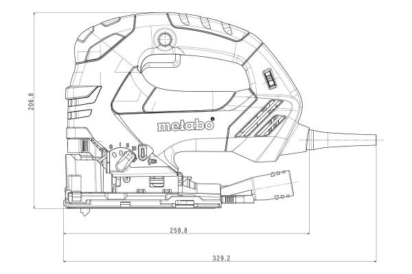 Metabo Wyrzynarka z elektroniką STEB 140 Plus, 750 W
