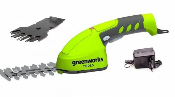 Nożyce do trawy akumulatorowe GREENWORKS GR1600107 + ostrze do krzewów