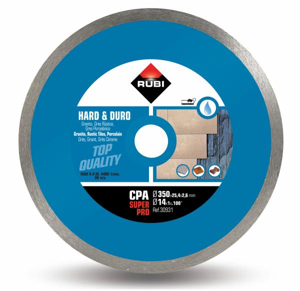Tarcza diamentowa do materiałów twardych Rubi CPA 350 SUPERPRO (30931)