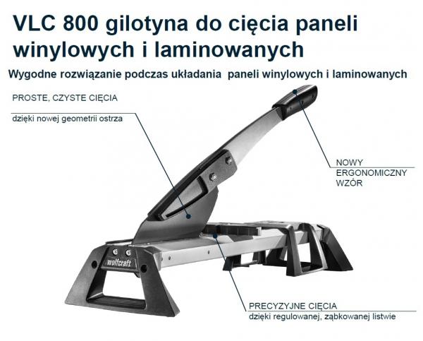 Gilotyna do cięcia paneli winylowych i laminowanych WOLFCRAFT VLC 800 6939000