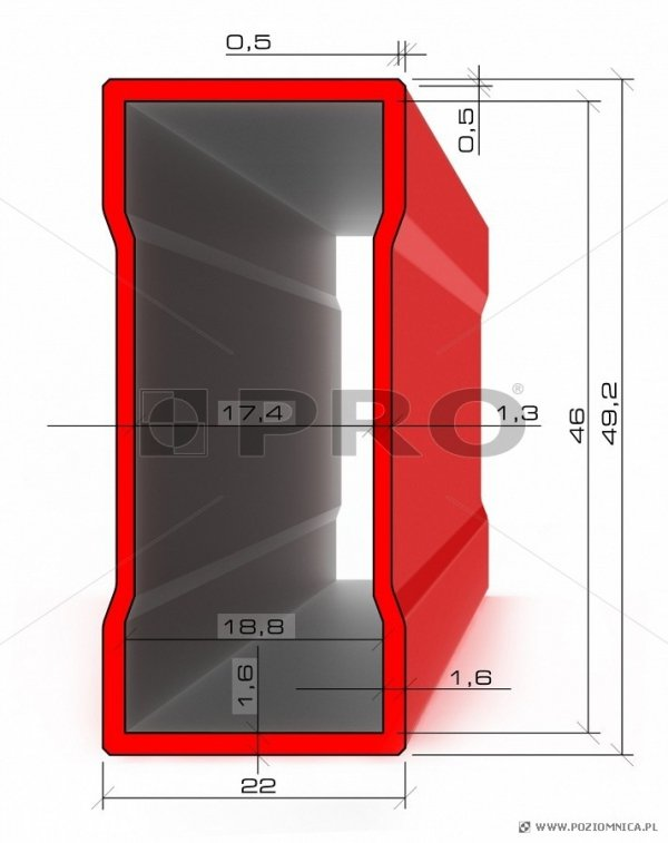 Poziomnica PRO 600ENDURANCE 40cm - Z magnesem