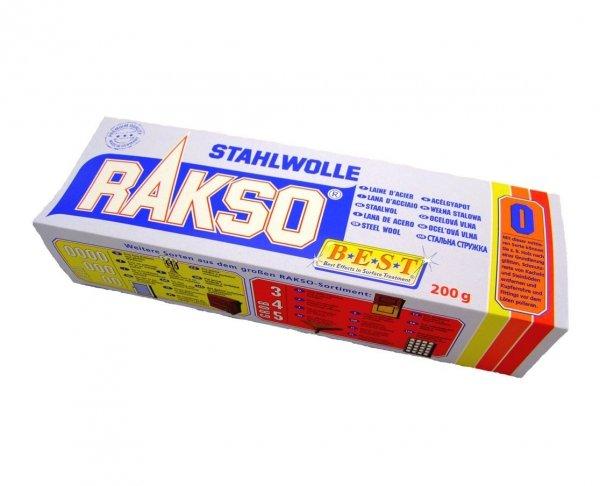 Wełna stalowa Stahlwolle RAKSO 200g granulacja 0