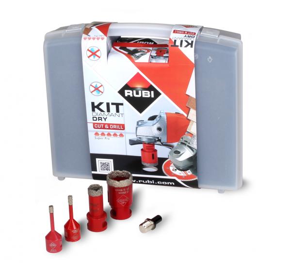 Zestaw Mini DryGres RUBI zestaw 4 koronek wiercenie na sucho /06966/