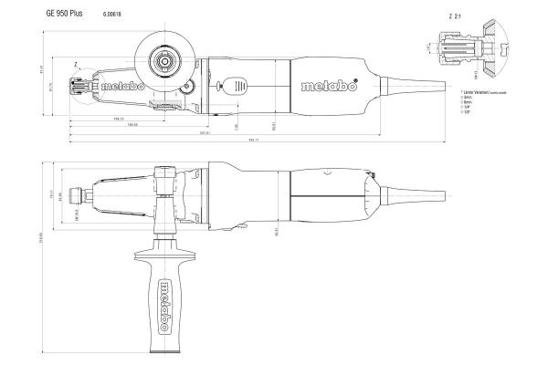 Szlifierka prosta Metabo GE 950 G Plus 600618000