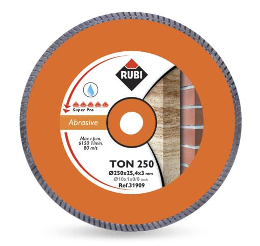 Tarcza diamentowa do materiałów ściernych Rubi TON 250 SUPERPRO (31909)