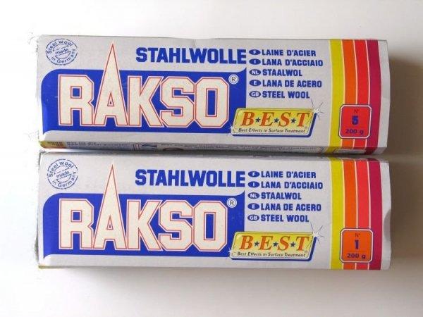 Wełna stalowa Stahlwolle RAKSO 200g granulacja 0000
