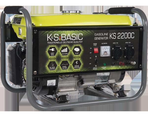 Agregat prądotwórczy benzyna z miedzianym uzwojeniem K&S BASIC KS 2200C  2.2 kW