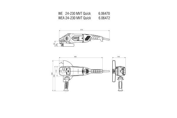 Metabo Szlifierka kątowa WEA 24-230 MVT Quick z autobalanserem 606472000